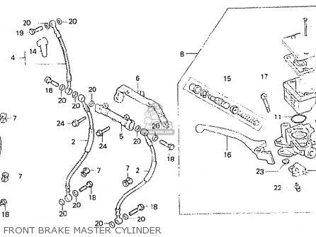 Honda Cb250n 1984 (e) Greece parts list partsmanual partsfiche