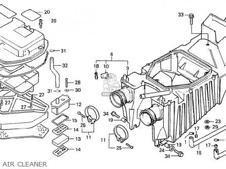 Honda Cb250nd 1981 (b) England parts list partsmanual