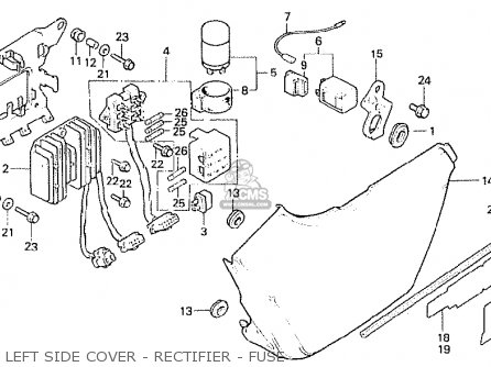 Honda CB250ND 1981 (B) ENGLAND parts lists and schematics