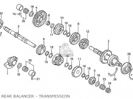 Honda Cb250rs 1980 (a) France parts list partsmanual