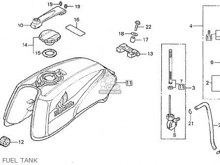 Honda CB250RS 1980 (A) SWITZERLAND parts lists and schematics