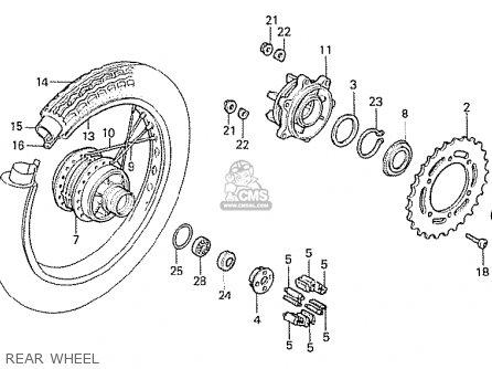Honda CB250RS 1982 (C) ENGLAND parts lists and schematics