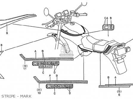 Honda Cb250rs 1982 (c) England parts list partsmanual