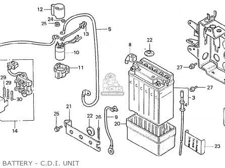 Honda Cb250rsz 1982 (c) England parts list partsmanual