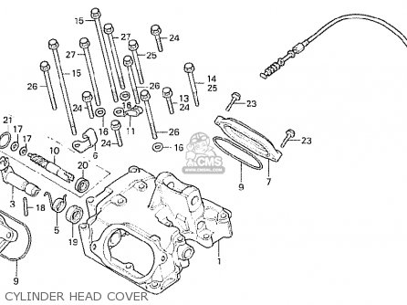 Honda Cb250rsz 1982 (c) England parts list partsmanual