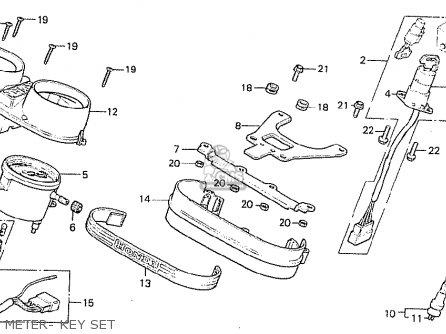 Honda Cb250tii 1979 (z) England parts list partsmanual