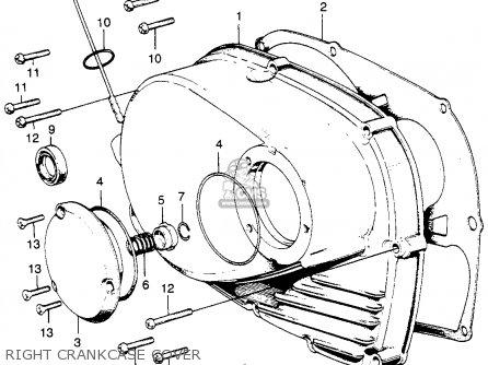 Honda Cb350 Super Sport 350 K0 1968 Usa parts list
