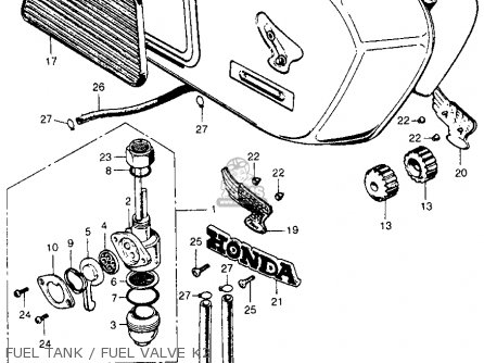 Honda Cb350 Super Sport 350 K2 1970 Usa parts list