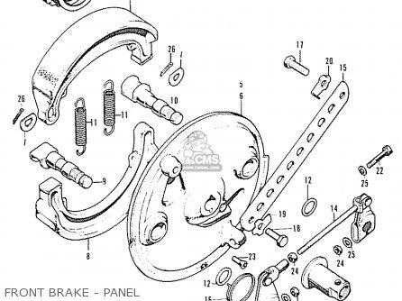 Honda Cb350 Super Sport 350 K2 (general Export) parts list