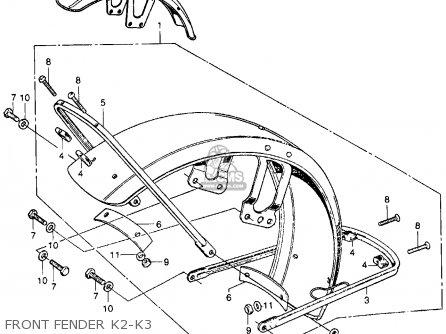 Honda Cb350 Super Sport 350 K3 1971 Usa parts list
