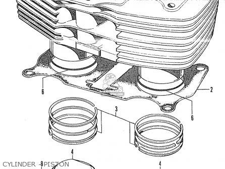 Honda Cb350 Super Sport 350 K4 1972 Usa parts list