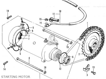 Honda CB350B4 GENERAL EXPORT / KPH MPH parts lists and