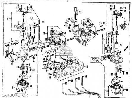 Honda Cb350f Four 1972 Usa parts list partsmanual partsfiche