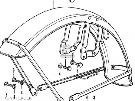 Honda CB350F FOUR FRANCE parts lists and schematics