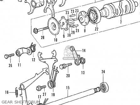 Honda Cb350f Four General Export parts list partsmanual