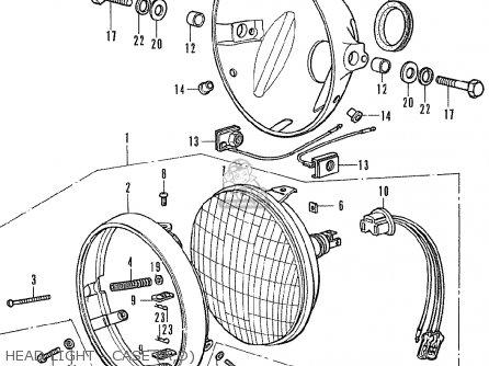 Honda CB350F FOUR GENERAL EXPORT parts lists and schematics