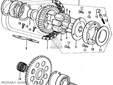 Honda CB350F1 FOUR 1974 USA parts lists and schematics