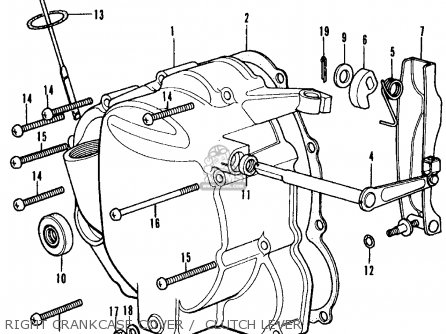 Honda CB350F1 FOUR 1974 USA parts lists and schematics