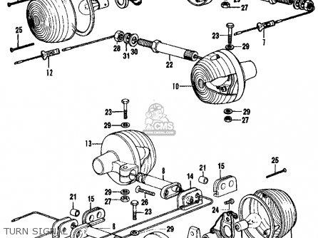 Honda Cb350f1 Four 1974 Usa parts list partsmanual partsfiche