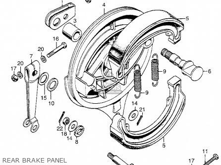 Honda Cb350g Super Sport 1973 Usa parts list partsmanual