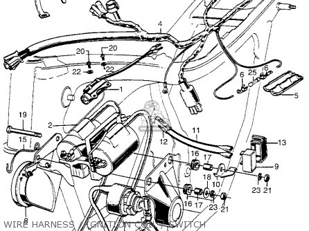 Honda CB350G SUPER SPORT 1973 USA parts lists and schematics