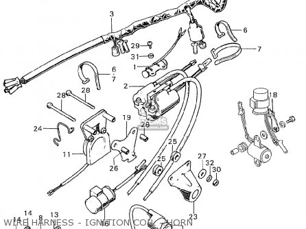 Honda CB350K0 SUPER SPORT ENGLAND parts lists and schematics
