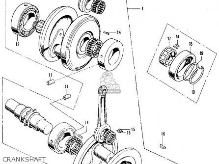 Honda Cb350k2 Super Sport 1970 Usa parts list partsmanual