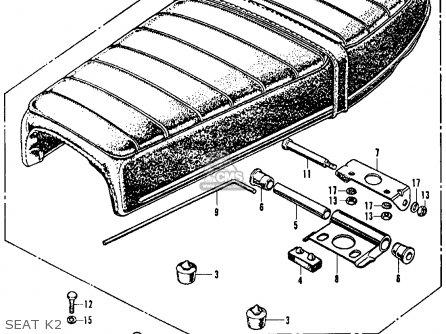 Honda CB350K2 SUPER SPORT 1970 USA parts lists and schematics