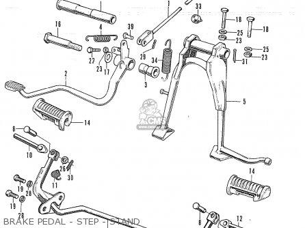 Honda Cb350k4 Australia parts list partsmanual partsfiche