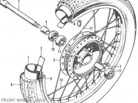 Honda Cb350k4 England parts list partsmanual partsfiche