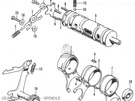 Honda CB350K4 ENGLAND parts lists and schematics