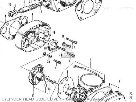 Honda CB350K4 FRANCE parts lists and schematics
