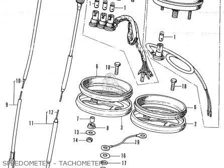 Honda Cb350k4 France parts list partsmanual partsfiche