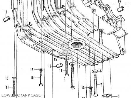 Honda Cb350k4 Super Sport 1972 Usa parts list partsmanual