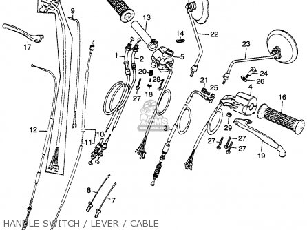 Honda Cb360 1974 Usa parts list partsmanual partsfiche