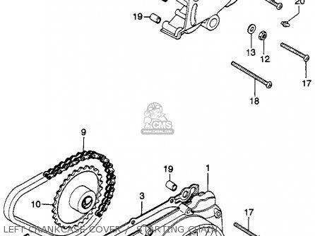 Honda Cb360g 1974 Usa parts list partsmanual partsfiche