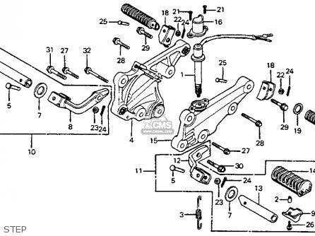 honda cb400 four wiring diagram 2002 toyota camry cb400a hawk hondamatic 1978 usa parts list partsmanual partsfiche