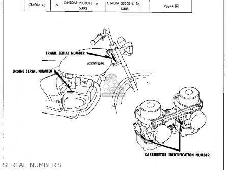 Honda Cb400a Hawk Hondamatic 1978 Usa parts list