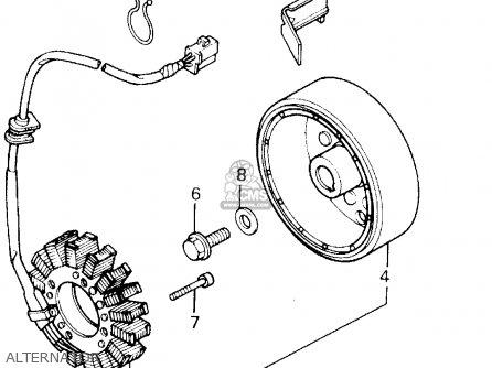 Honda Cb400f 1990 (l) Usa parts list partsmanual partsfiche