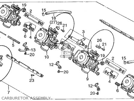 Honda Cb400f Cb-1 Usa parts list partsmanual partsfiche