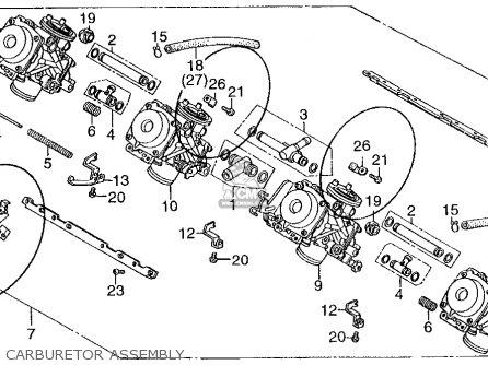 Honda CB400F CB1 1989 (K) USA parts lists and schematics