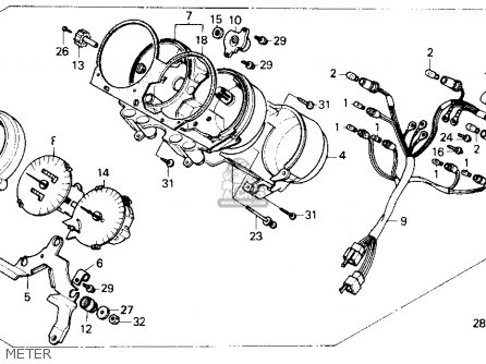 Honda Cb400f Cb1 1989 (k) Usa parts list partsmanual