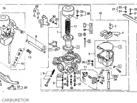 Honda Cb400n Superdream 1981 (b) England parts list