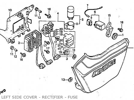 Honda CB400NC 1983 (D) SUPERDREAM ENGLAND parts lists and