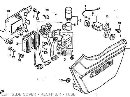 Honda CB400ND 1984 (E) NETHERLANDS parts lists and schematics