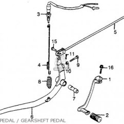 1978 Honda Cb400 Wiring Diagram 2002 Bmw 325i Stereo Cb400t Hawk 1980 A Usa Parts Lists And Schematics Brake Pedal Gearshift