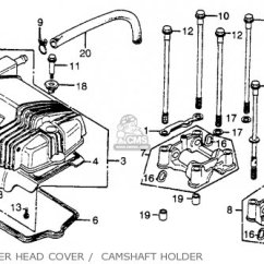 1980 Honda Cb400t Wiring Diagram Recessed Light Hawk A Usa Parts Lists And Schematics Cylinder Head Cover Camshaft Holder