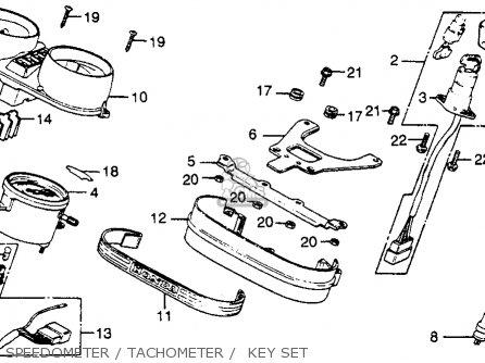 Honda CB400T HAWK 1980 (A) USA parts lists and schematics