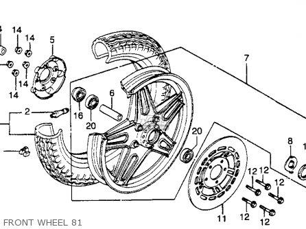 Honda Cb400t Hawk 1981 (b) Usa parts list partsmanual