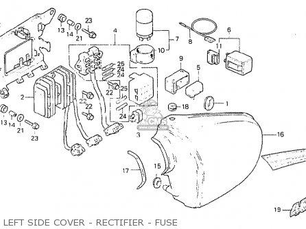 Honda Cb400ti 1978 Canada parts list partsmanual partsfiche